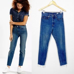 Levi's Wedgie Fit High Waisted Jeans Sz 27